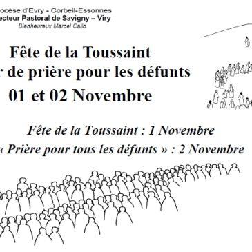 Horaires de la Toussaint