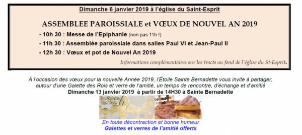 Les vœux … à pour les paroisses de Viry