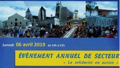 samedi 06 avril 2019 :                                             Le pèlerinage annuel du secteur