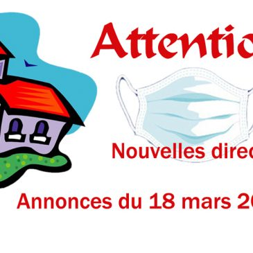 ATTENTION, NOUVELLES DIRECTIVES